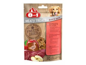 Pochoutka 8in1 Meaty Treats FD Duck/Apple 50g