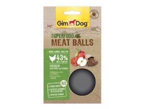 GIMDOG Superfood Meat Balls Kuře, jablko a quinoa 70g