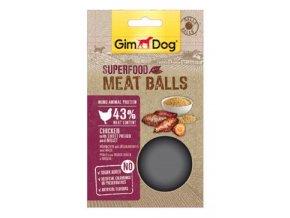 GIMDOG Superfood Meat Balls Kuře, sl.bramb.+proso70g