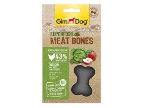 GIMDOG Superfood Meat Bones Kuře, jablko a kapusta 70g