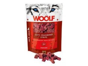 WOOLF pochoutka soft cranberry strips 100g