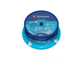 CD-R VERBATIM Spindle/Extra Protection/52x/700MB 25ks