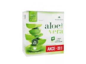 Aloe Vera šťáva 99.7% 1000ml 1ks +1ks navíc