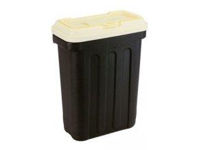 MAELSON Box na granule černá/slonová kost 20kg