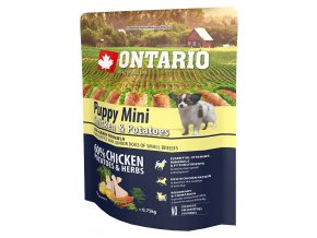 ontario puppy mini chicken potatoes 0 75 kg original