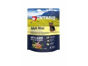 ontario adult mini lamb rice 0 75kg original