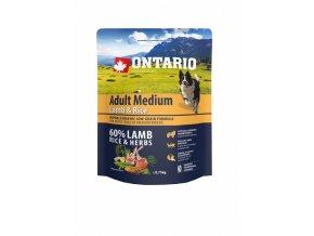 ontario adult medium lamb rice 0 75 kg original