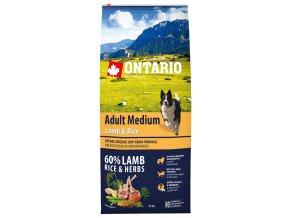 ontario adult medium lamb rice 12 kg original