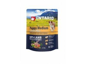 ontario puppy medium lamb rice 0 75 kg original (1)