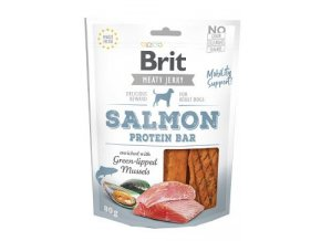 Brit Jerky Salmon Protein Bar 80g