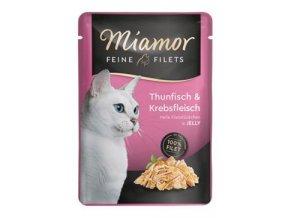 Miamor Cat Filet kapsa tuňák+krab v želé 100g