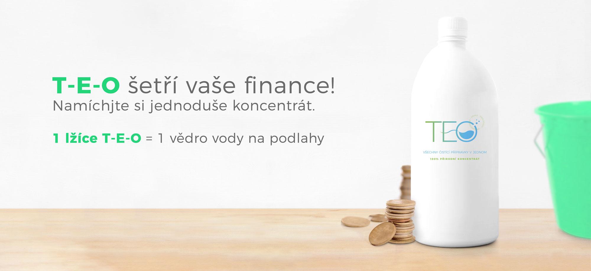 koncentrát čistícího přípravku TEO šetří finance
