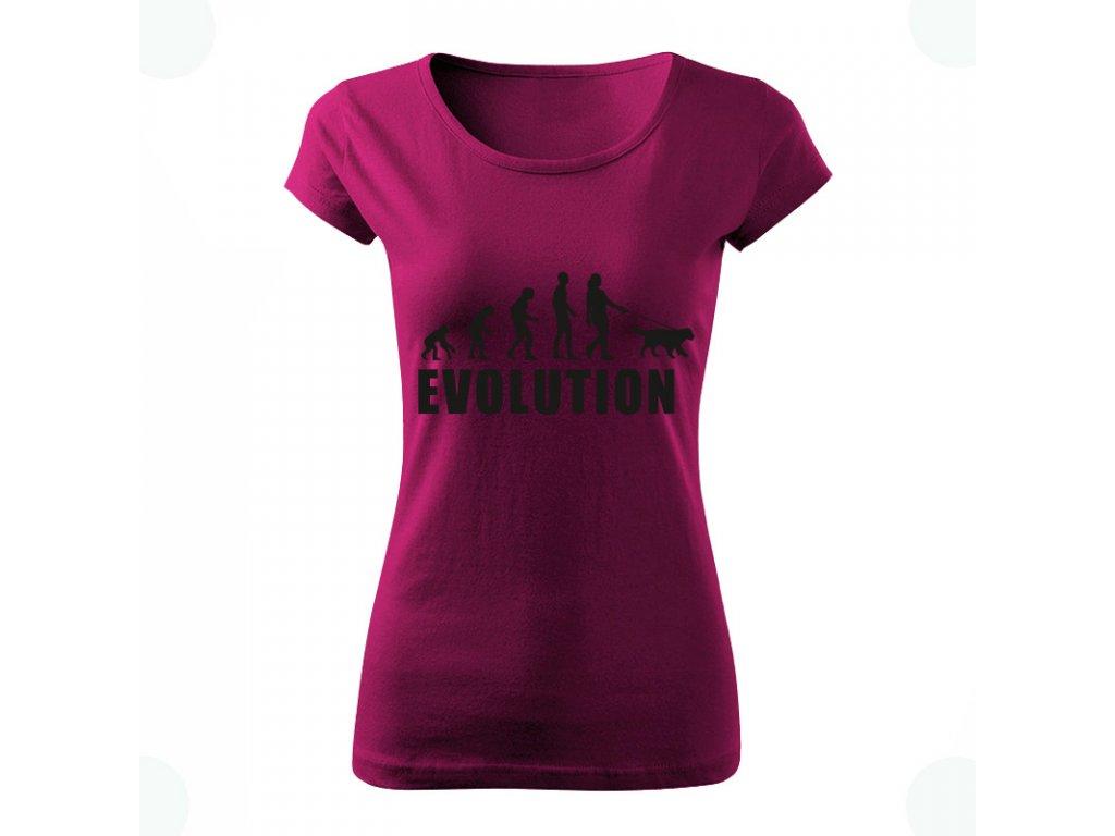 DOG evolution dámske tričko fialova