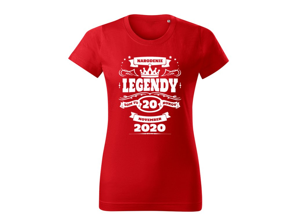 narodenie legendy damske tricko 2 cervena