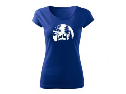 forest damske tricko kralovska modra