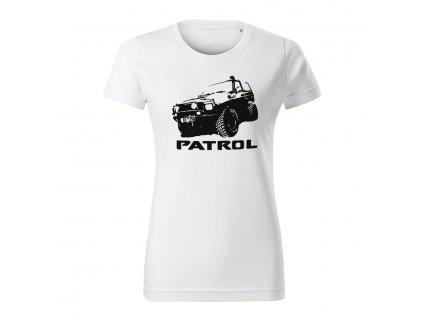nissan patrol offroad damske tricko cierna biela
