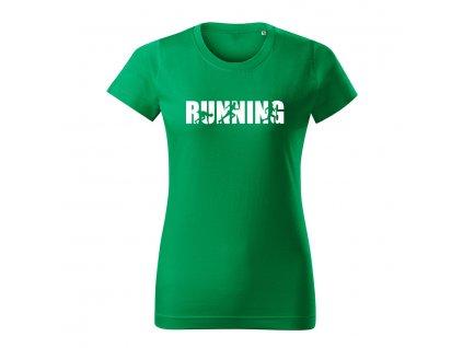 running damske tricko 2 travova zelena