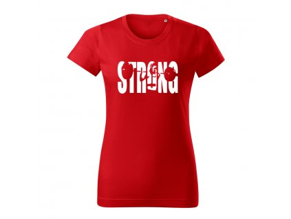 strong girl damske tricko 1 cervena