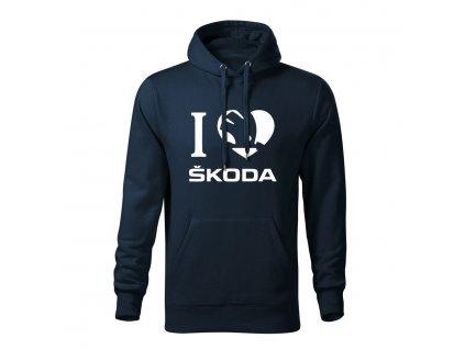 I love Škoda pánska mikina