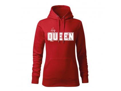 his queen damska mikina 2 cervena