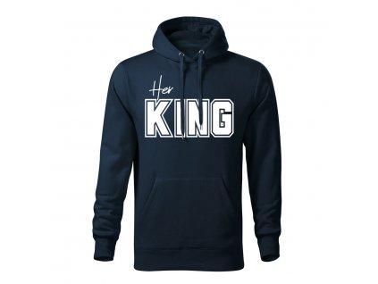her king panska mikina 2 tmavo modra