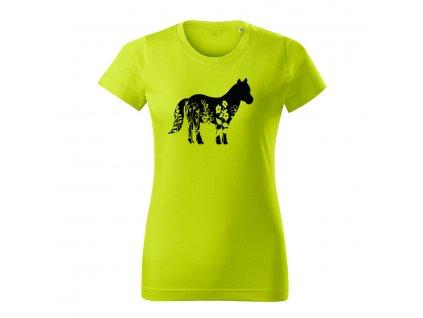 ponik flor dámske tričko 1 limetkova