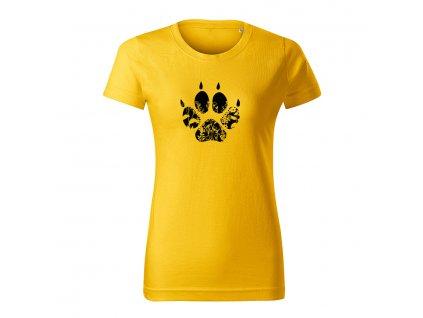 stopa 2 flor dámske tričko 1 zlta