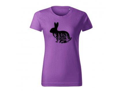 zajac flor dámske tričko 1 fialova