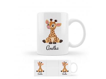 žirafa hrnček
