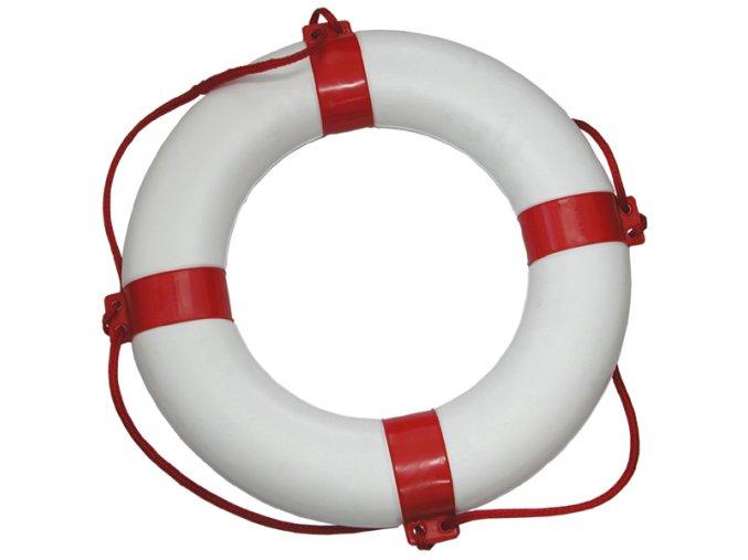 Záchranný kruh bíločervený