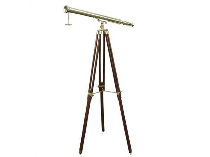 Mosazný retro dalekohled 100 cm - stativ