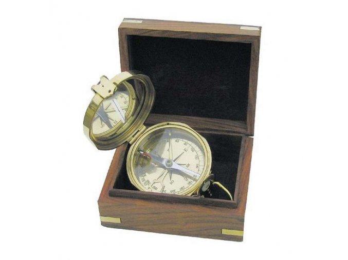 Kompas v dřevěné krabičce 8224