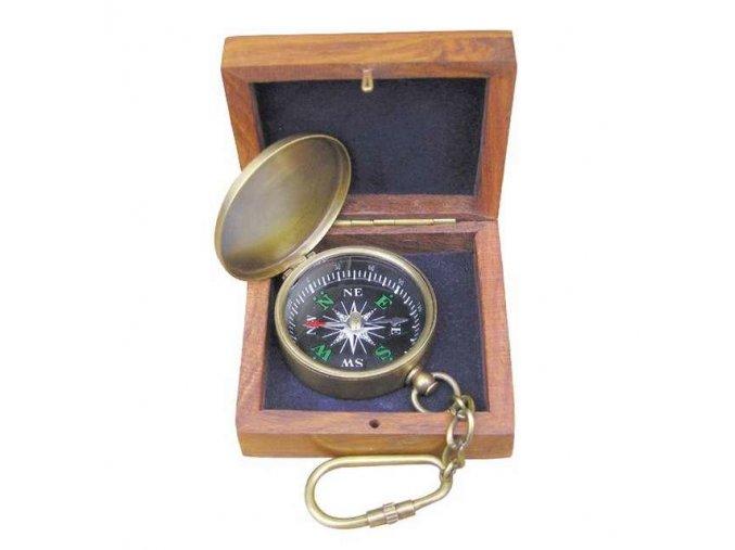 Kompas v dřevěné krabičce 8501