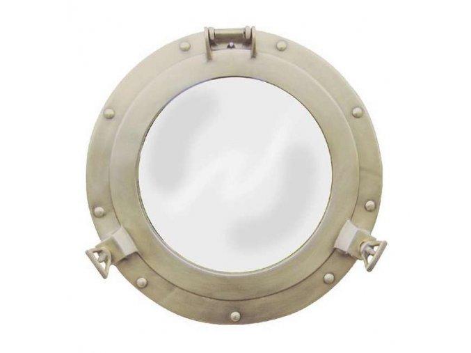 Zrcadlo mosazné - antik