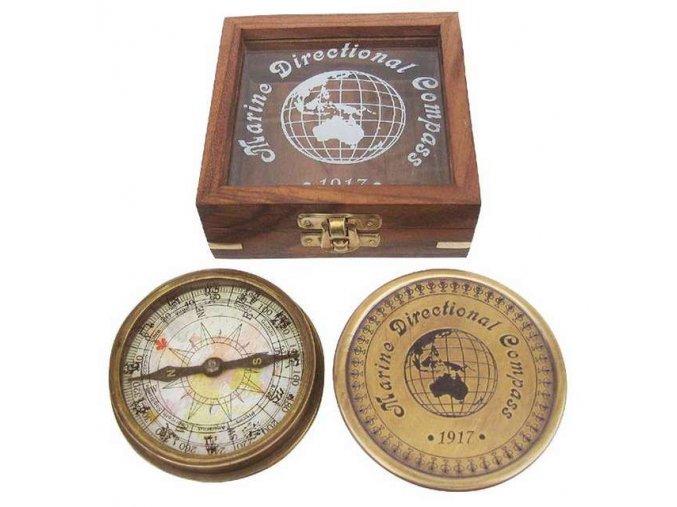 Kompas v dřevěné krabičce 8521