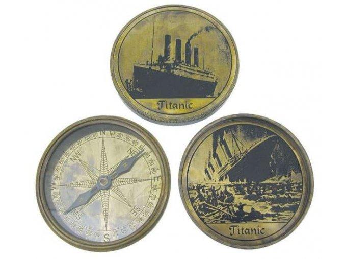 Mosazný kompas TITANIK