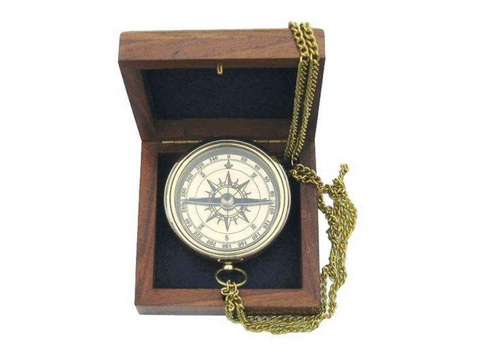 Kompas v dřevěné krabičce 9033B