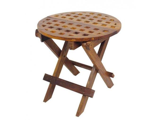 Skládací stolek kulatý