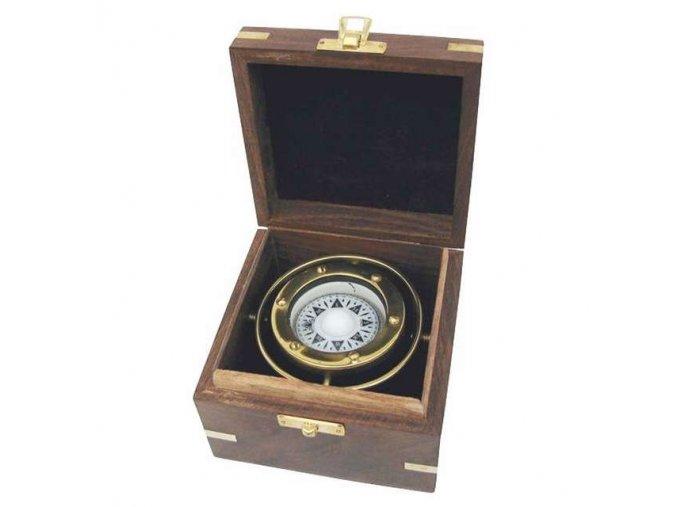 Kompas v dřevěné krabičce 9169