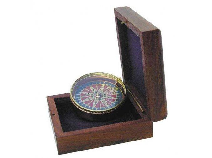 Kompas v dřevěné krabičce 1137