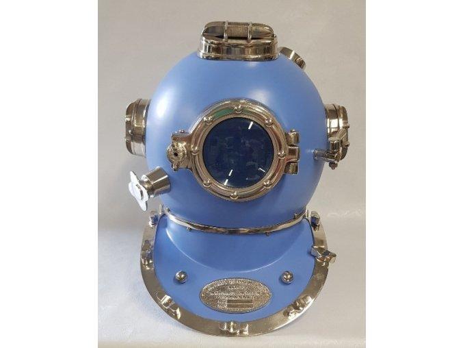 Potápěčská helma MARK V.- modrá