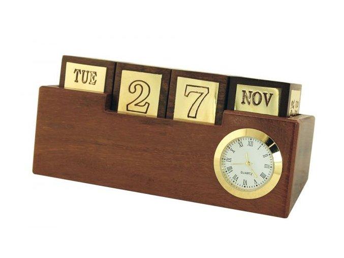 Kalendář s hodinami