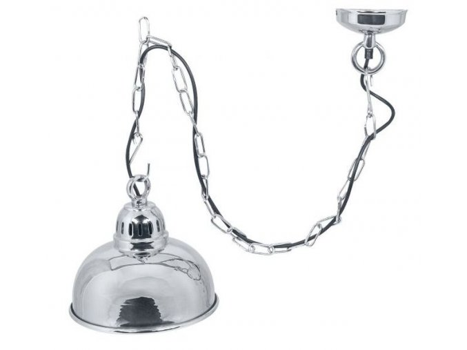 Stropní lampa stříbrná
