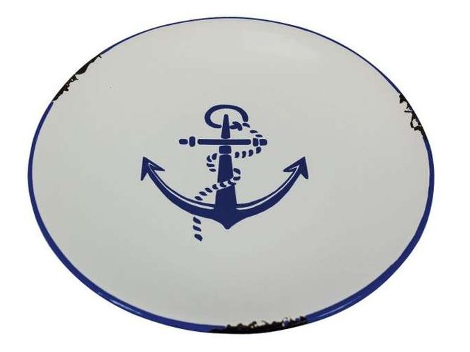 Keramický talířek  - motiv kotva