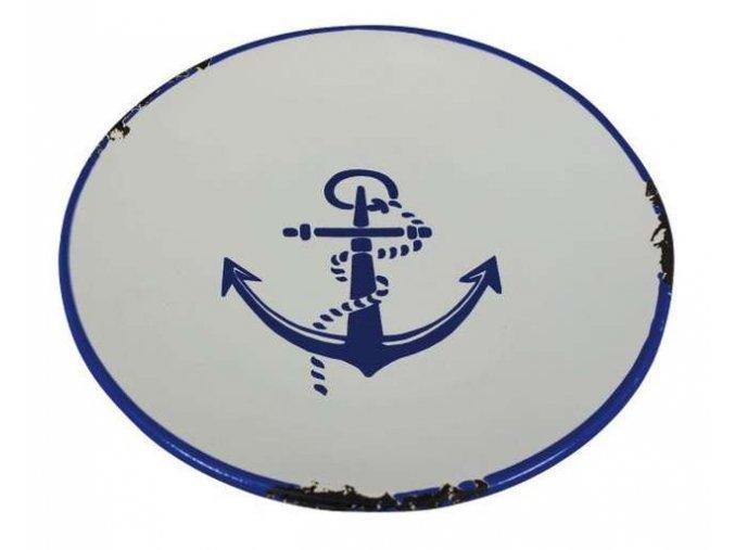 Keramický talířek malý - motiv kotva
