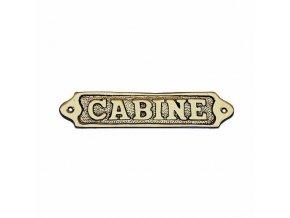 """Cedulka """"Cabine"""""""