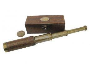 Mosazný retro dalekohled 38 cm - antik