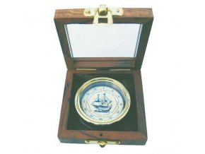Kompas v dřevěné krabičce 9228
