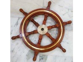 Kormidelní kolo s mosaznou ozdobou - 47 cm