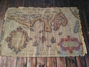 Replika staré námořní mapy  002